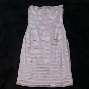 White formal dress.